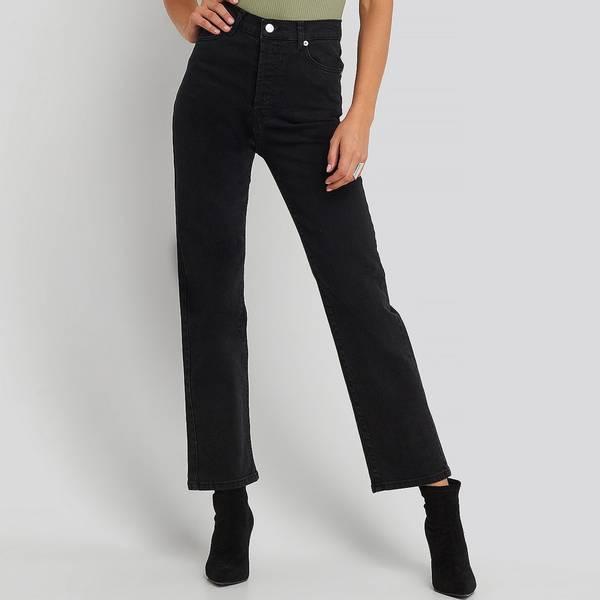 Bilde av NA-KD - High Straight Jeans Black